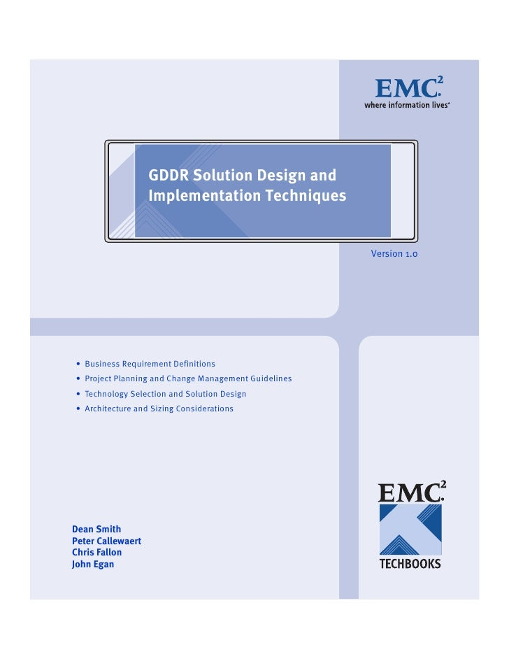 GDDR Solution Design and Implementation Techniques