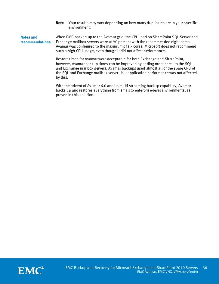 White Paper: EMC Backup and Recovery for Microsoft Exchange and Share…