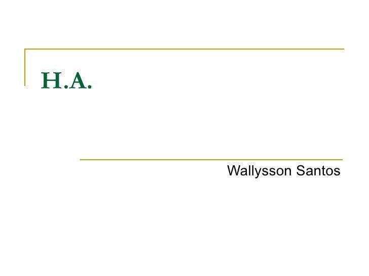 H.A. Wallysson Santos