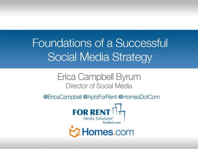 Workshop: Foundations of a Successful Social Media Strategy