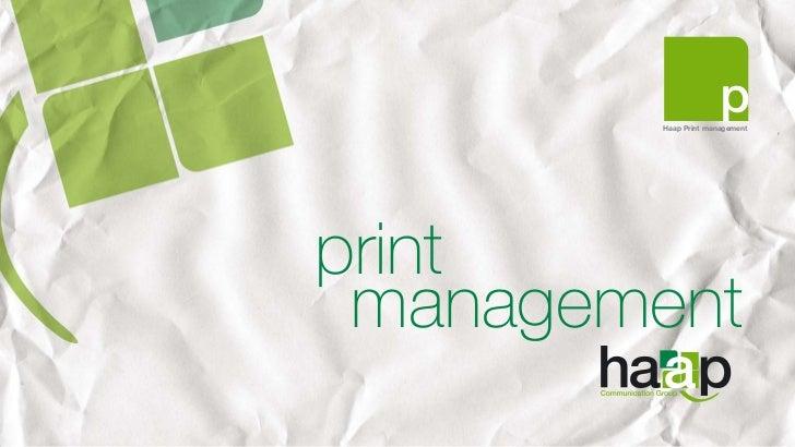 Haap Print managementprint management