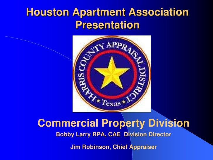 Harris County Appraisal District Presentation