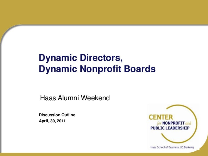 Haas alumni dynamic nonprofit boards apr30 2011