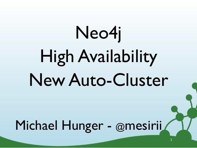 New Neo4j Auto HA Cluster