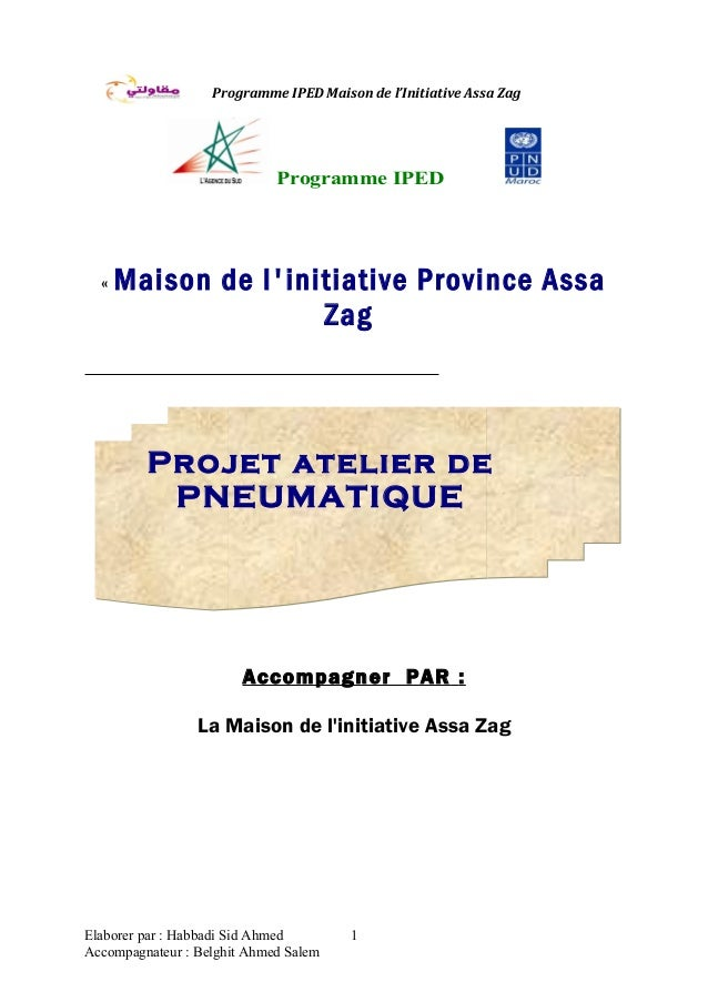 Programme IPED Maison de l'Initiative Assa Zag Programme IPED « Maison de l'initiative Province Assa Zag Accompagner PAR :...