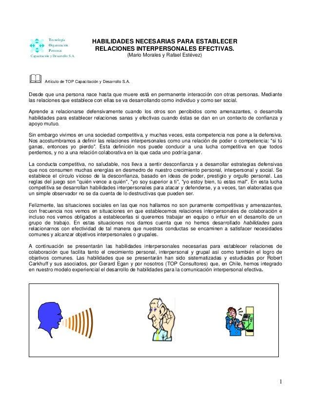 Tecnología            Organización                                  HABILIDADES NECESARIAS PARA ESTABLECER            Pers...