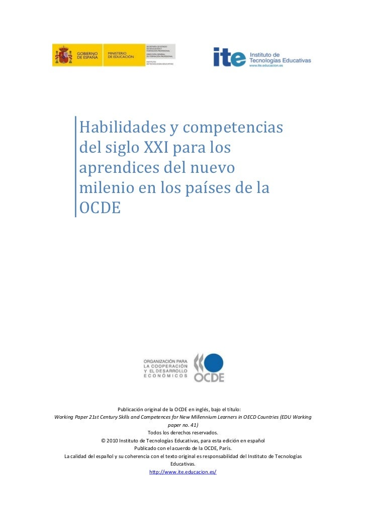 Habilidades y competencias del siglo xxi ocde for Diseno de interiores siglo xxi
