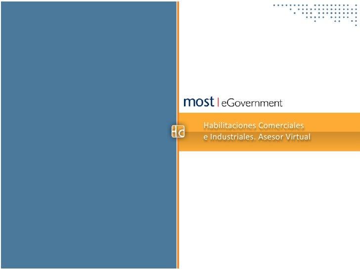 Habilitaciones Comercialese Industriales. Asesor Virtual