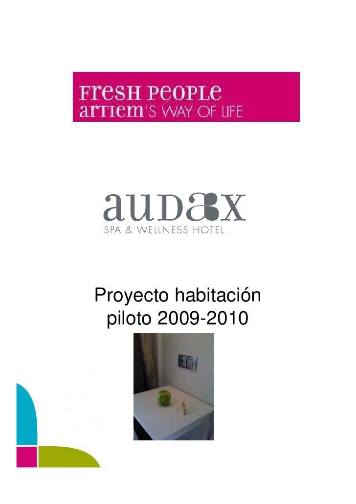 Proyecto habitación  piloto 2009-2010