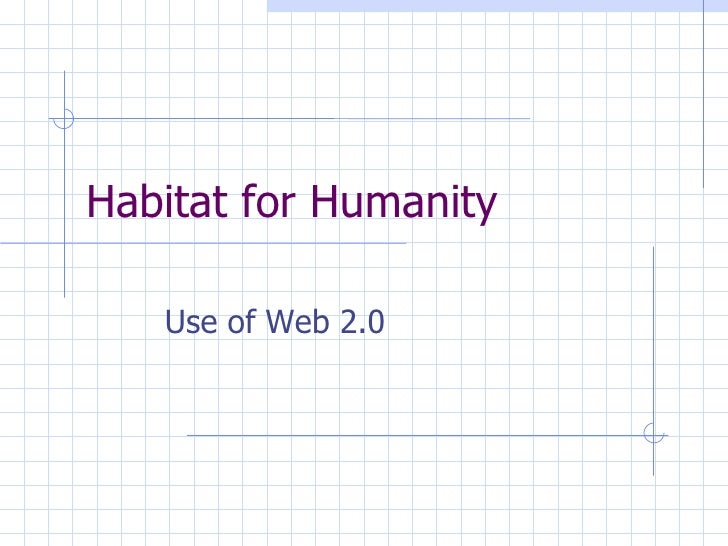Habitat for Humanity Use of Web 2.0