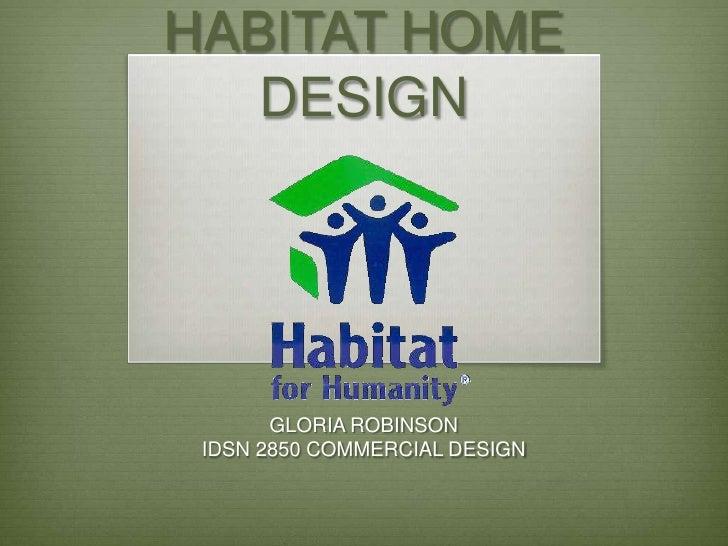 Habitat for Humanit Gloria Robinson
