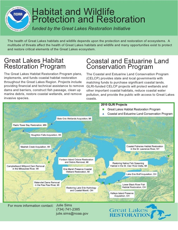 Habitat and Wildlife                   Protection and Restoration                   funded by the Great Lakes Restoration ...