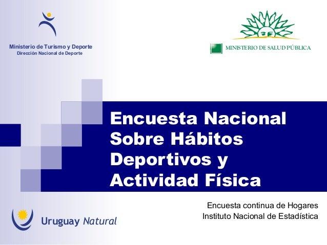 Encuesta NacionalSobre HábitosDeportivos yActividad FísicaEncuesta continua de HogaresInstituto Nacional de EstadísticaMin...