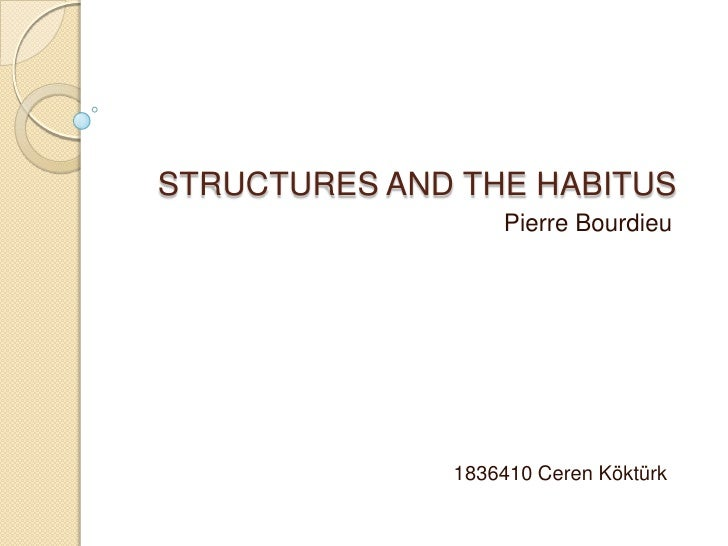 STRUCTURES AND THE HABITUS- Pierre Bourdieu
