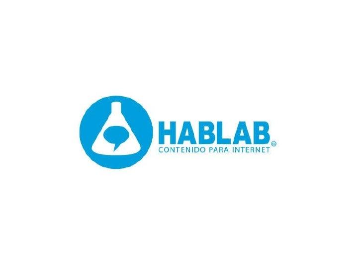 HabLab - Contenidos para internet
