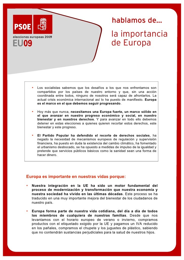 La importancia de Europa