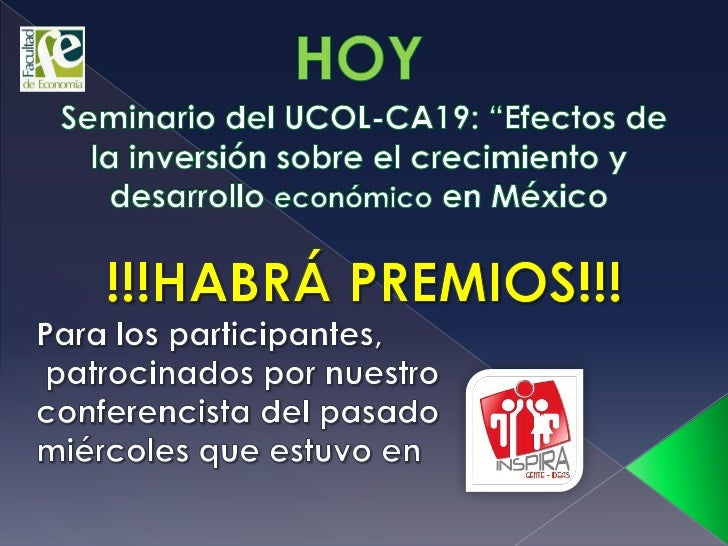HOY EN EL SEMINARIO HABRÁ PREMIOS PARA LOS PARTICIPANTES