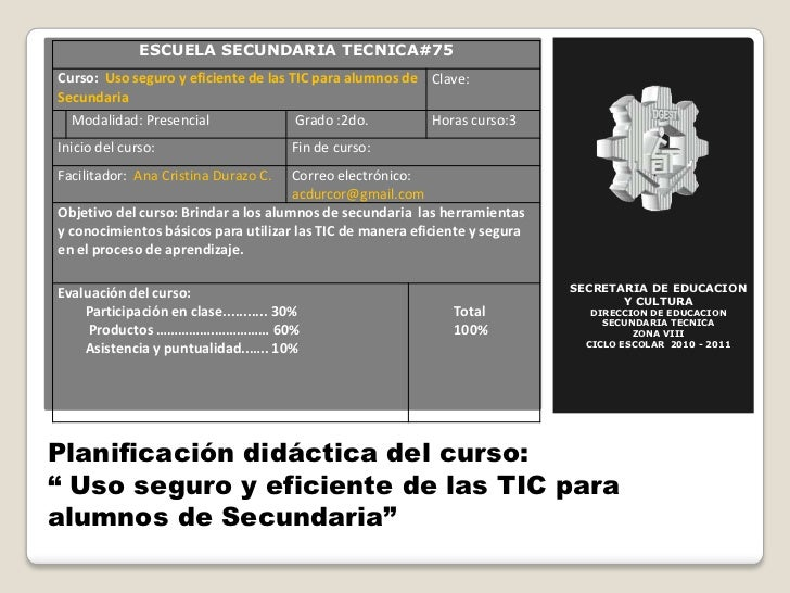 SECRETARIA DE EDUCACION Y CULTURA<br />DIRECCION DE EDUCACION SECUNDARIA TECNICA<br />ZONA VIII<br />CICLO ESCOLAR  2010 -...