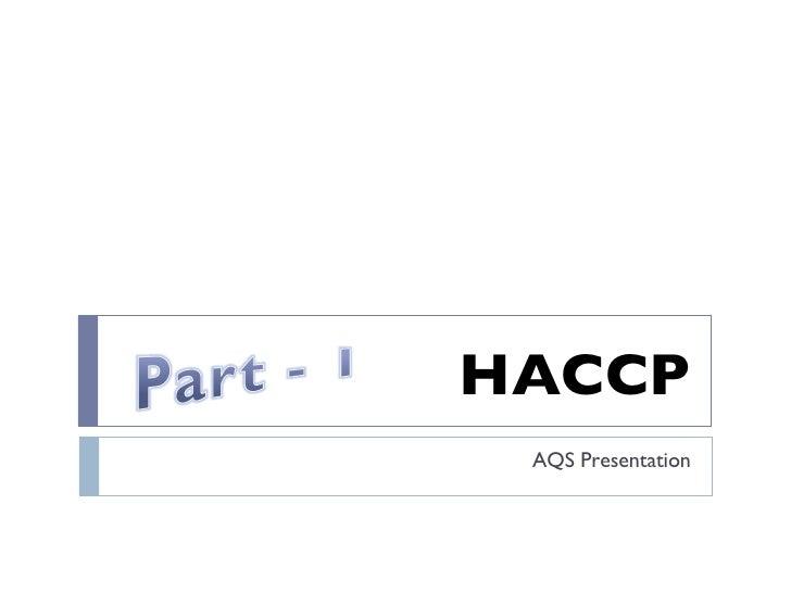 HACCP Part 1