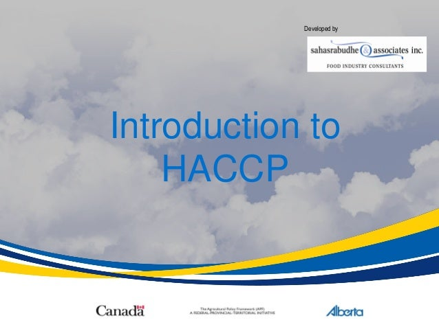 Introduction to HACCP Developed by