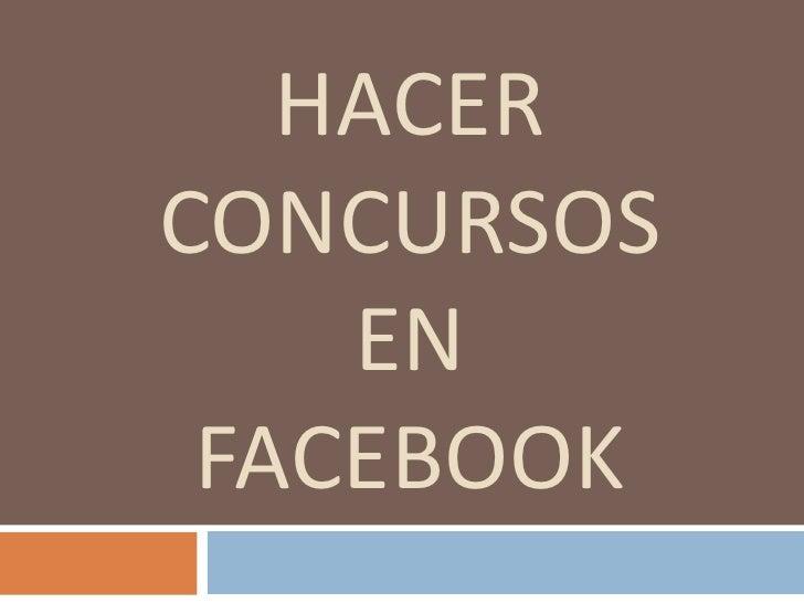 HACERCONCURSOS    EN FACEBOOK
