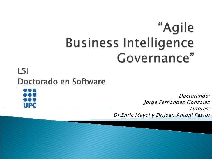 Hacia el Agile Bi Governance