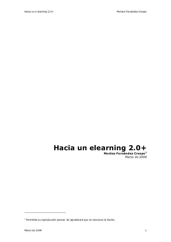 Hacia Un e-learning 2.0+