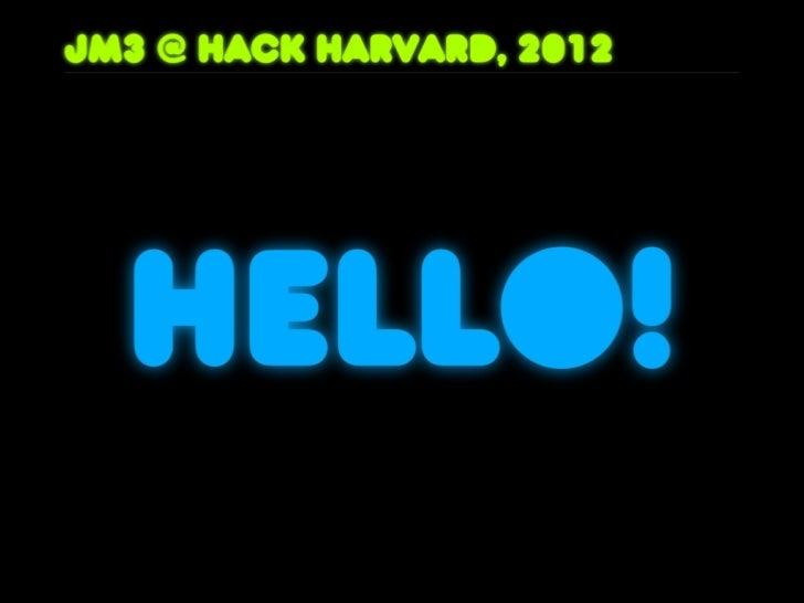 Hack Harvard 2012: Open Source is Big Business