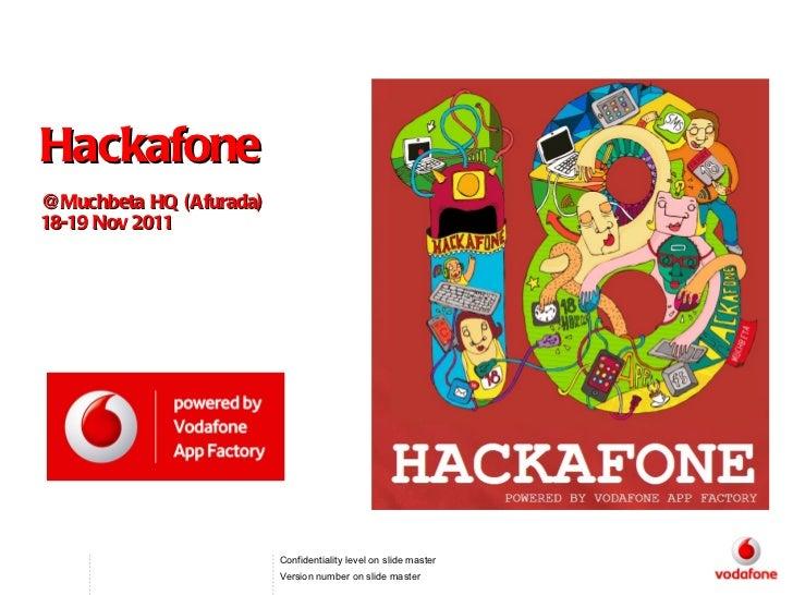 Hackafone @Muchbeta HQ (Afurada) 18-19 Nov 2011