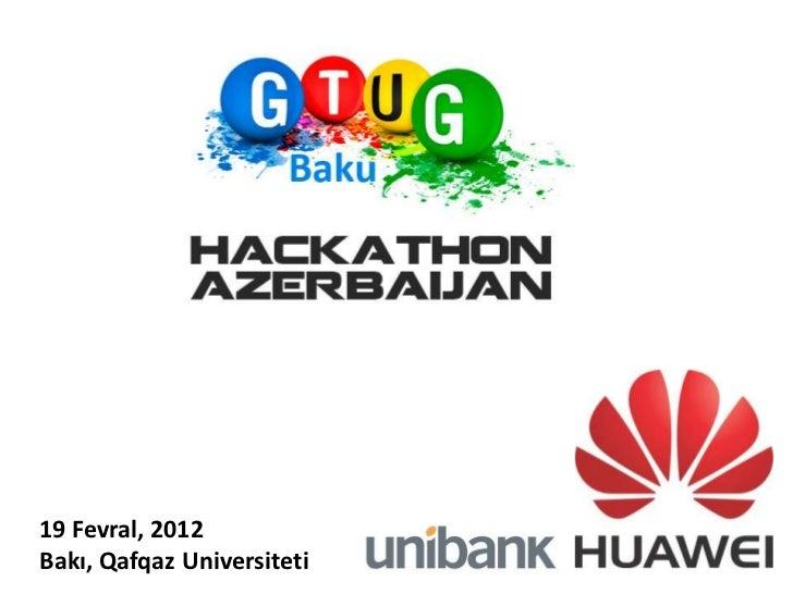 19 Fevral, 2012Bakı, Qafqaz Universiteti
