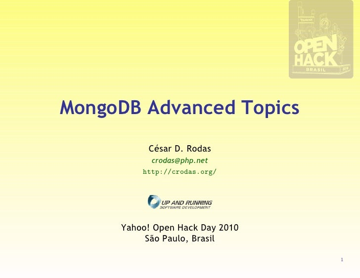 MongoDB Advanced Topics
