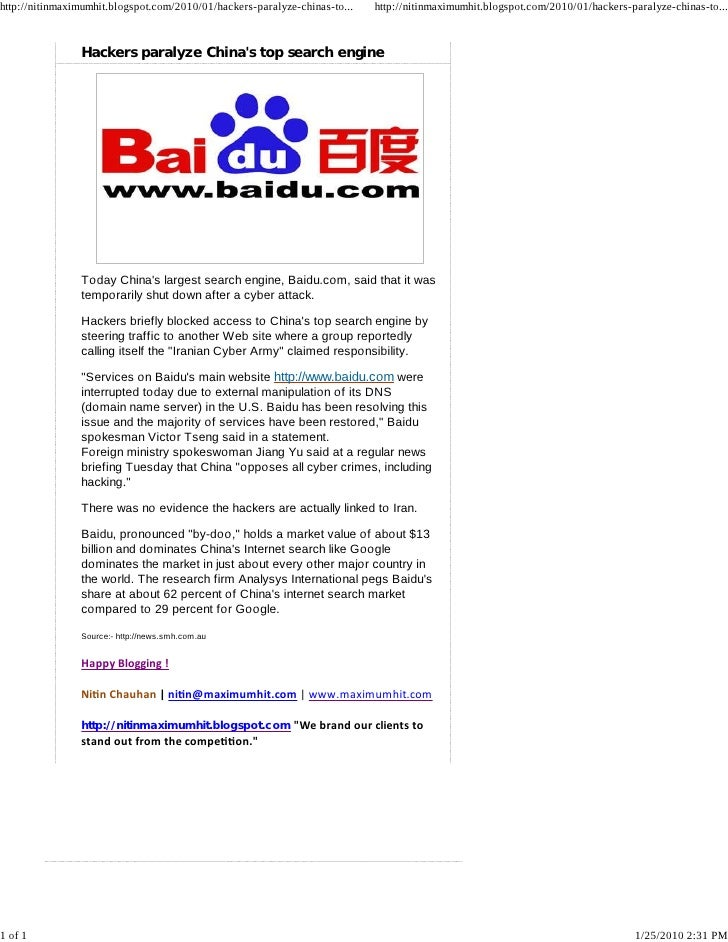 http://nitinmaximumhit.blogspot.com/2010/01/hackers-paralyze-chinas-to...   http://nitinmaximumhit.blogspot.com/2010/01/ha...
