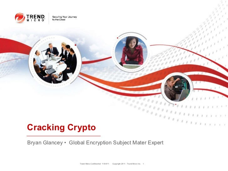 Bryan Glancey •  Global Encryption Subject Mater Expert Cracking Crypto Trend Micro Confidential  11/04/11