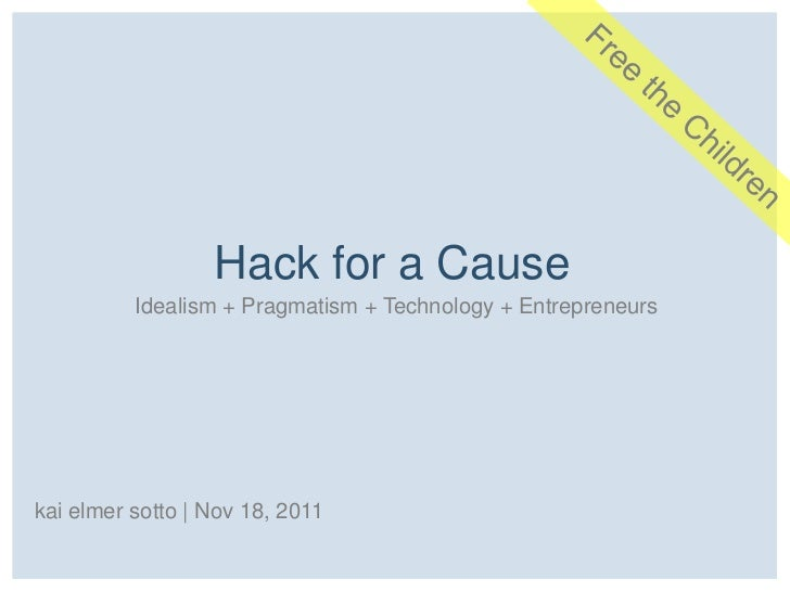 Hack for a Cause: Pilot (We Day)