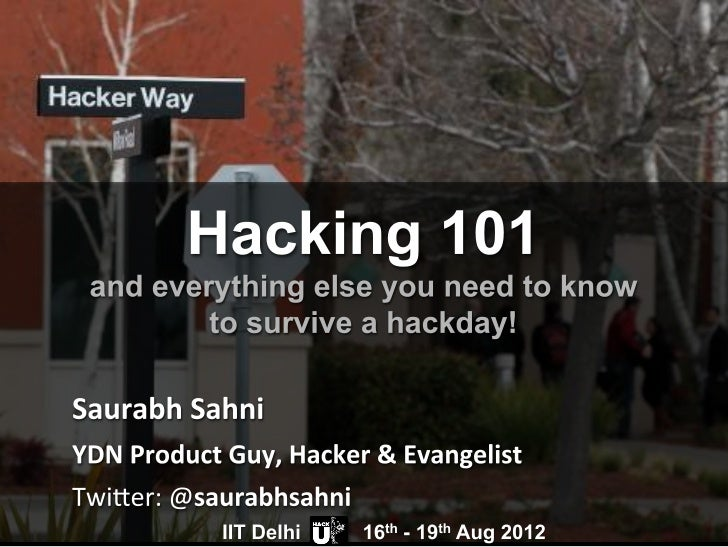 Hackers are:People like you and me.Creative developers & designers.Love technology.Love building things.Come to events lik...