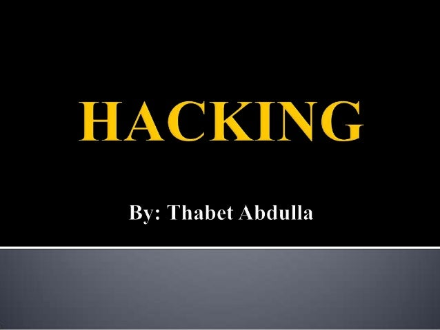 Hacking refers to an array of activities which are done to intrude some one else's personal information space so as to use...