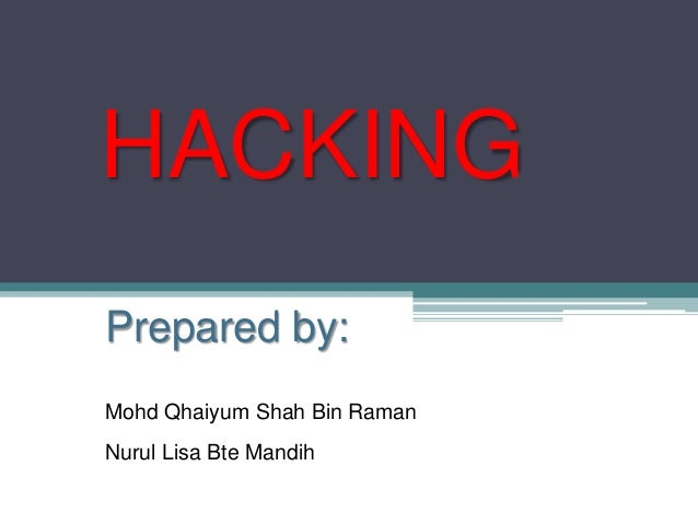 ICT Form 4: Hacking