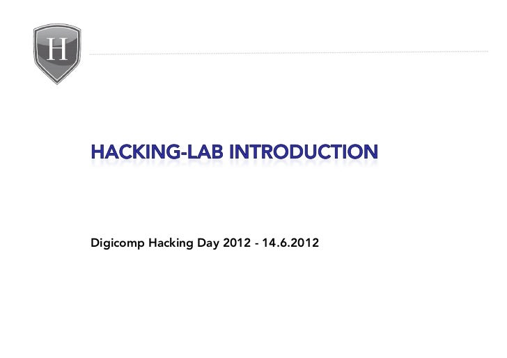 Digicomp Hacking Day 2012 - 14.6.2012