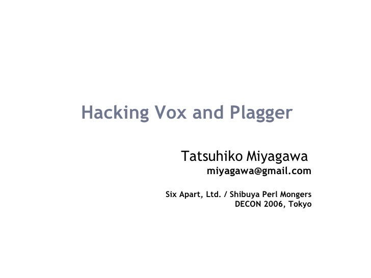 Hacking Vox and Plagger