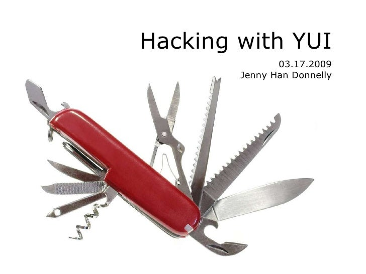 Hacking with YUI