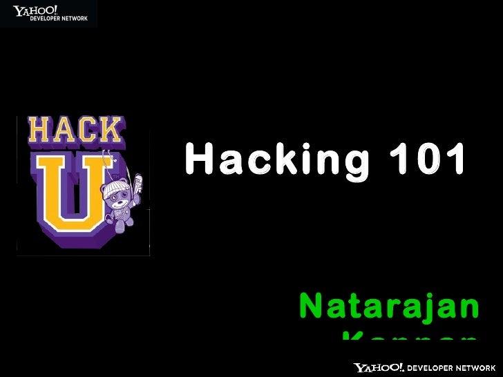 Hack 101 @ HackU - IIT Madras