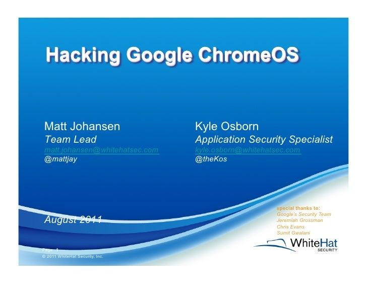 Matt Johansen                    Kyle OsbornTeam Lead                        Application Security Specialistmatt.johansen@...