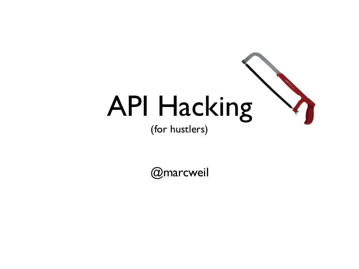 Intro to APIs for Hustlers