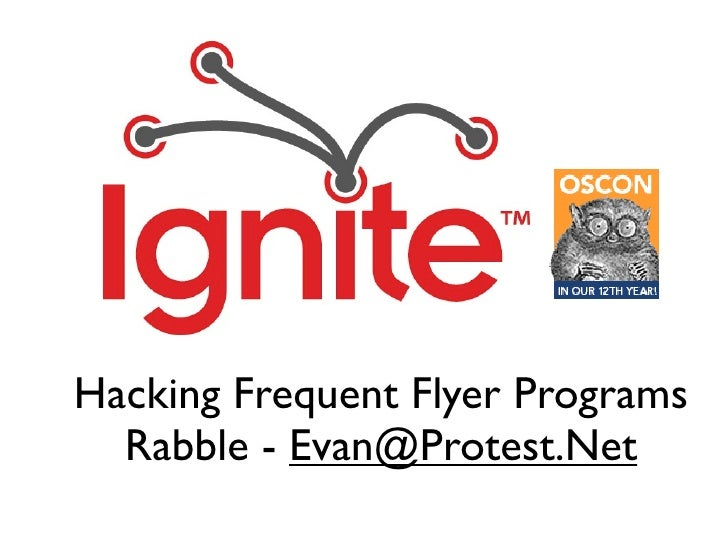 Hacking Frequent Flyer Programs   Rabble - Evan@Protest.Net