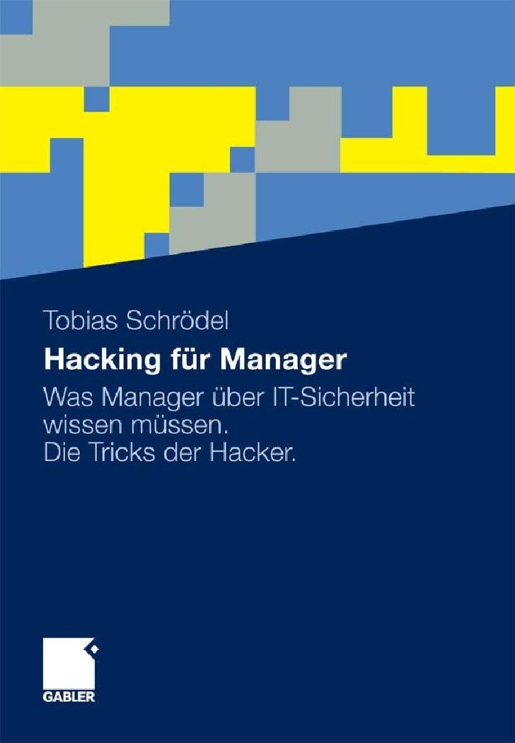 Tobias SchrödelHacking für Manager