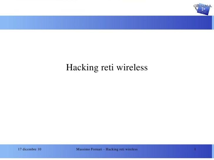 Hacking reti wireless