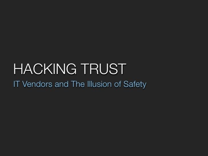 Hacking Trust