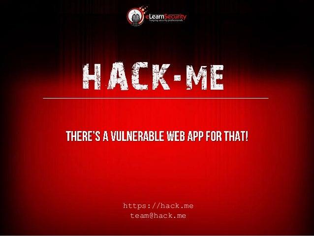 https://hack.me team@hack.me