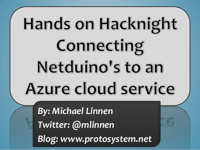 Connecting Netduinos to a Windows Azure Service