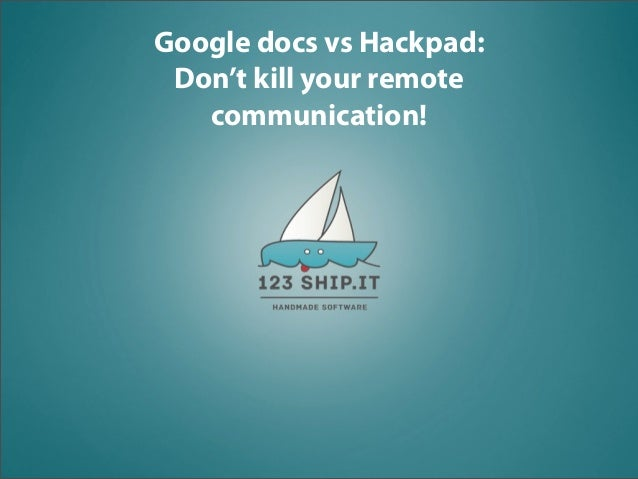 Hackpad vs google docs